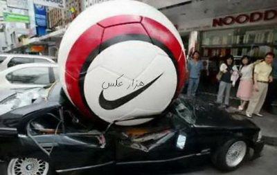 عکسی از سقوط شهاب توپ برروی ماشین